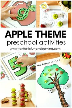 Apple Theme Preschool Activities and Lesson Plans for Preschoolers Preschool Teacher Tips, Preschool Apple Theme, Apple Activities, Autumn Activities For Kids, Preschool Lesson Plans, Preschool Themes, Kindergarten, Thanksgiving Games For Kids, Fun Learning