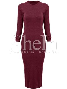 Shop Burgundy Long Sleeve Sheath Dress online. SheIn offers Burgundy Long Sleeve Sheath Dress & more to fit your fashionable needs.