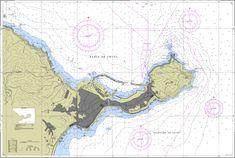 Carta de navegación de la bahía de Ceuta