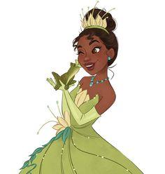 Tiana illustration - Princess and the Frog Disney Pixar, Disney Fan Art, Disney And Dreamworks, Disney Movies, Princesa Tiana Disney, Kida Disney, Disney Girls, Kawaii Disney, Frog Princess