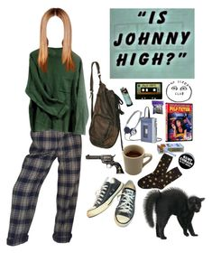 """""""drugged in school"""" by lemonboy-222 on Polyvore featuring She's So, Converse, Michele, 3:10, Forever 21, ELSE and INC International Concepts"""