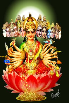 viswaroopa of sri maahalakshmi Lord Vishnu Wallpapers, Lord Krishna Images, Goddess Lakshmi, Shree Krishna, Lord Ganesha, Hindus, Indian Gods, Durga, Religious Art