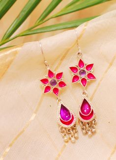 #pink #purple - #colorful #earrings at #fabindia