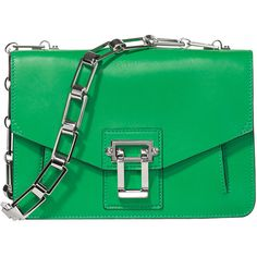 Proenza Schouler Green Hava Chain Bag - Green Hava Chain Bag ❤ liked on Polyvore featuring bags, handbags, proenza schouler purse, proenza schouler handbags, green purse, chain handbags and green bag