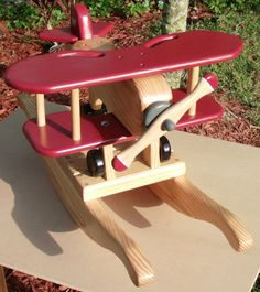 Small Wood Biplane Rocker by LasleyWoodWorks on Etsy