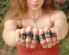 LOVE HER!!! Wendy Thurlow has been producing her own one-of-kind and limited edition jewelry for over 15 years. She incorporates techniques such as: forging, acid etching, and various surface embellishments to give her jewelry texture and depth. Wendy's jewelry is organic and sculptural!
