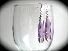 Briollette Earrings  Any Color by JustMadeJewelry on Etsy, $18.00