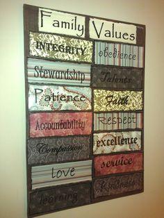 Family values DIY sign