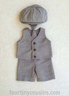 Baby boy Boys Vest Newsboy Hat Bow Tie Ring by fourtinycousins Vest Outfits, Baby Boy Outfits, Kids Outfits, Baby Wedding Outfit, Toddler Suits, Baby Boy Suit, Ring Bearer Outfit, Boys Suits, Easter Outfit