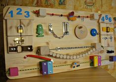 Busy Board, Activity Toy, Sensory Game , Wooden Toy, Toddler Busy Board