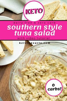 If you are looking for a lunch great keto lunch idea, here is one from Keto in Pearls. Make this southern-inspired keto tuna salad with sugar-free relish and hard-boiled eggs. This tuna salad recipe is both dairy-free and zero carbs! It's perfect for a school or work lunch box or just a poolside snack! #ketolunch #tunasaladrecipe #ketotunasalad #ketotunarecipes #ketotuna #tunarecipes #keto #lowcarb #healthy Tuna Recipes, Low Carb Recipes, Salad Recipes, Supper Recipes, Soup Recipes, Healthy Recipes, Jalapeno Poppers, Keto Tuna Salad, Dairy Free Tuna Salad