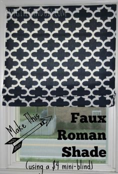 diy faux roman shade mini blind, home decor, window treatments, windows. Love that she included a glass of wine in her directions! Diy Projects To Try, Home Projects, Faux Roman Shades, Diy Blinds, Blinds Ideas, Diy Roman Blinds, Hunter Douglas, Do It Yourself Home, Window Coverings
