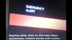 EAS! END OF THE WORLD Prediction Message Interrupts California TV Broadc...