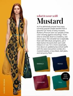 what to wear with mustard