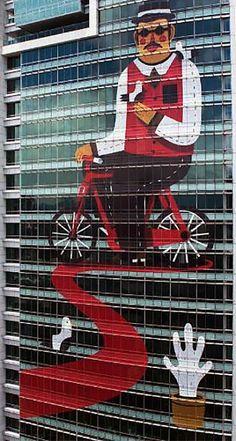 Agostino Iacurci New Street Art in Taipei, Taiwan