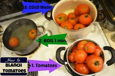 How to Blanch Tomatoes