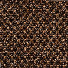 Stickat svart med kopparfolie