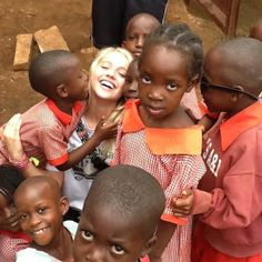 This young lady is one-of-a-kind! On a mission trip in Africa which has been a lifelong dream of hers! She has counted down the minutes to be right where she is in this picture! #uganda