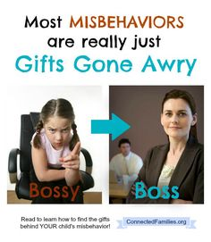 One of the most critical times for us to affirm our children's talents is when they misbehave. ~ConnectedFamilies.org