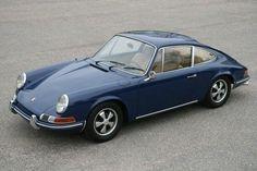 Blue Porsche.
