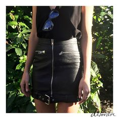 """One size small buckle skirt back in stock! #KHALO ✔️"""