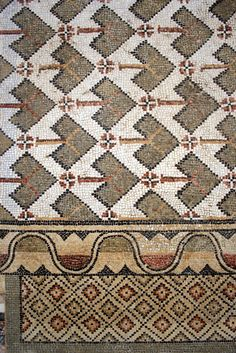 Roman Mosaic, Sabratha.   Lifted mosaic from the Church of V…   Flickr - Photo Sharing!