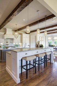 Kitchens ‹ Bella Vita Interiors Best Picture For kitchen island plans For Your Taste You are looking Kitchen Redo, Home Decor Kitchen, Kitchen Interior, Home Kitchens, Kitchen Remodel, Kitchen Dining, Custom Kitchens, Raised Kitchen Island, Kitchen Island With Seating