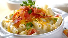 Macaroni Carbonara with Bacon and Cream