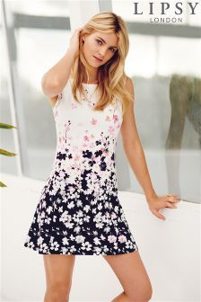 ec3e4c0f4aa Buy Lipsy Poppy Print Mini Skater Dress from the Next UK online shop
