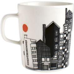 Mugs & Cups from Rörstrand, Arabia, Marimekko, Iittala, Royal Copenhagen Marimekko, Crate And Barrel, Pot Pourri, Kitchenware, Tableware, Cool Mugs, Shops, Mug Cup, Orange