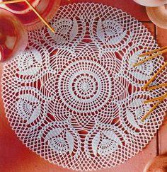 Beautiful Lace Doily Using White Cotton Yarns