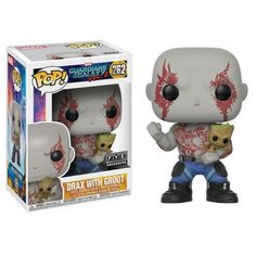 Funko Drax with Groot, FYE Exclusive, Guardians of the Galaxy, Marvel, Funkomania