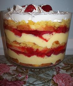 Southern Style Strawberry Pineapple Trifle