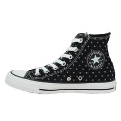 15710a2e8c49f Baskets   Tennis Mode CONVERSE Chuck Taylor All Star Hi Toile Femme Black + White  CONVERSE