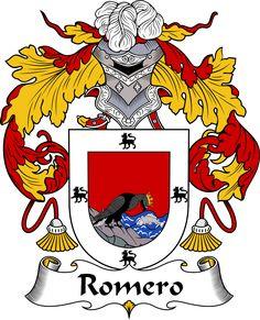 Romero Coat of Arms, Romero Family Crest, Romero escudo de armas, Romero cresta de la familia