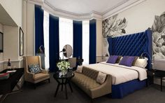 Remarkable Gothic Bedroom Design Ideas With Deep Violet Wall ...