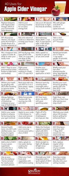 40 Ways to Use Apple Cider Vinegar