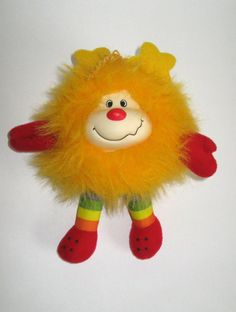 Rainbow Brite Sprite Spark yellow plush 1980s 80s toy on Etsy, $8.75