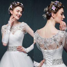 Charm Crystal Wedding Bridal Bolero Jackets Beads Rhinestones Shrug Wrap Stock   Clothing, Shoes & Accessories, Wedding & Formal Occasion, Bridal Accessories   eBay!