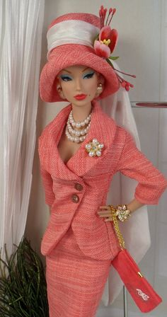Coral Bells for Silkstone Barbie and Victoire Roux OOAK Doll Fashion