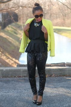 Sequins pants and  blazer by  StyleLust Pages: Hello, 2014!