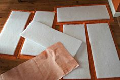 cut rectangles for crib bumpers