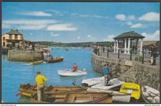 Customs House Quay, Falmouth, Cornwall, c.1960s - Photographic Greeting Card Co Postcard