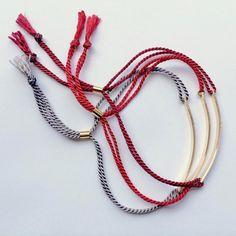 Mantra bracelet / Love bracelet / Cord bar bracelet / by shopLUCA