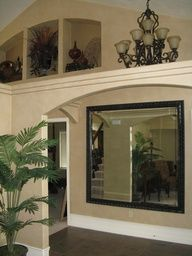 plain mirror in entry way mirror frame kit sticks securely to the glass itself finishing