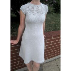 A gorgeous dress with an intricate lace yoke. Worked in the round from the bottom up, with instructions to knit cap sleeved, ¾ sleeved and long sleeved options - all included in this one pattern making it versatile and great value for money. Knit yourself a cute short sleeved version in cotton for the summer and a long sleeved version in wool for the winter.The pattern also includes the instructions to knit the dress with two different hem finishing styles – a pretty folded picot or a…