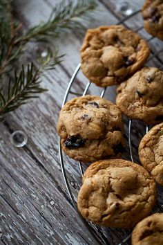 Coconut Oil Cranberries & Nuts Cookies