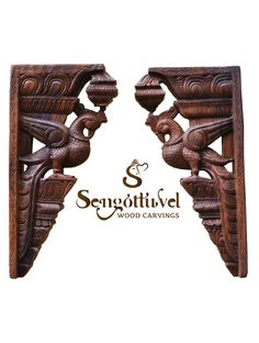 Brownish parrot wall mount Wood Carving Designs, Wood Carving Art, Wood Carvings, Wooden Art, Wooden Doors, Wood Crown Molding, Wooden Elephant, Indian Art Paintings