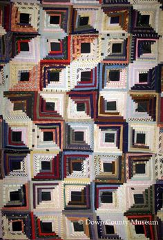 Log Cabin patchwork bedcover, Down County Museum | Northern Ireland