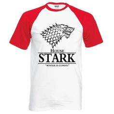 hot sale Game of Thrones raglan tee House Stark letters Winter Is Coming t shirt 2019 summer hot sale cotton top tees Stand Collar Shirt, Collar Shirts, Compression T Shirt, House Stark, Raglan Tee, Summer Shirts, Winter Is Coming, Mens Tees, Casual Dresses For Women